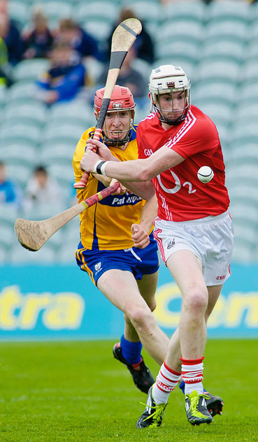 Patrick Kelly in action for the Clare intermediate hurlers in 2011. Image courtesy of The Clare Courier.