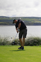 Tony Cleary (Dromoland) on the 7th tee during Round 1 of The South of Ireland in Lahinch Golf Club on Saturday 26th July 2014. Picture:  Thos Caffrey / www.golffile.ie