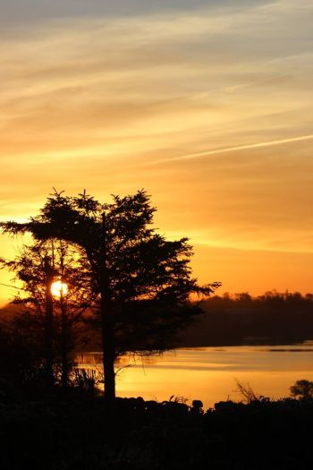 Sunrise at Lough Atedaun, Corofin, Co. Clare, on Wednesday, 28 January 2015. Photo Denise McGrath
