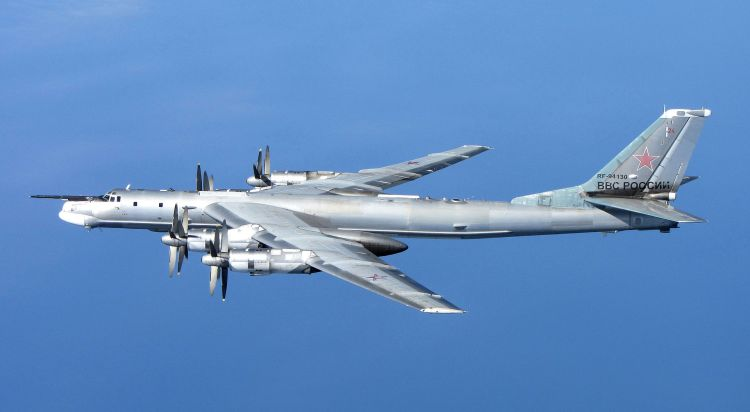 Tu-95MS Bear H RF-94130 off Scotland in 2014. Photo RAF- UK Ministry of Defence