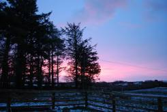 Wintry skies this morning, near Creegh, West Clare. Callan Picture Products
