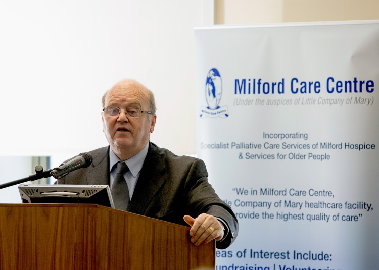 Pictured at the announcement by the Minister for Finance,  Michael Noonan of an E8.5m development project by Milford Care Centre for the Mid-West Region.