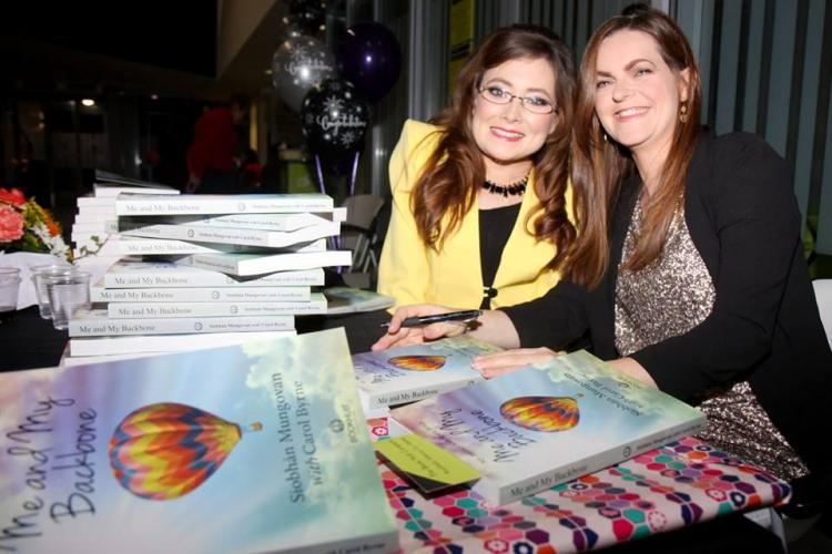 Siobhan Mungovan and Carol Byrne at the book launch