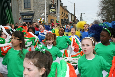 Holy Family Senior School took part in the Ennis St. Patrick's Day Parade. Photo www.hfss.org