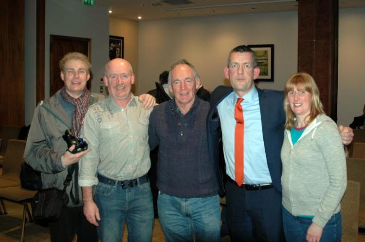 Peter Flannigan, Billy Austin, Brian Higgins, Maurice Quinlivan and Donna McGettigan