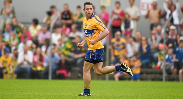 Shane McGrath hit 0-04 for Clare earlier against Louth.