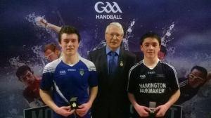 Tiernan Agnew (left) with GAA Handball President Willie Roche
