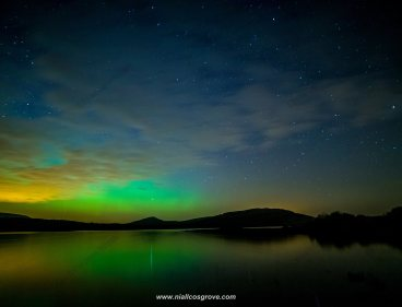 The Aurora Borealis (Northern Lights) cast a green hue over Mullaghmore, The Burren, Co Clare on St Patrick's Day. Pic Niall Cosgrove MORE FROM NIALL - https://www.facebook.com/pages/Niall-Cosgrove-Ennis-Photographer/1409217232628747