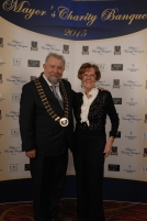 Pictured celebrating at the Mayor's Charity Banquet in Treacys West County Ennis were the Cathaoirleach of Clare County Council, Cllr. John Crowe from Sixmilebridge with his aunt Kay Crowe from Limerick City. Pic Terry O'Brien