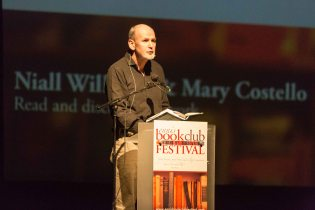 Niall Williams speaking at the Ennis Book Club Festival this weekend. Photograph by Eamon Ward