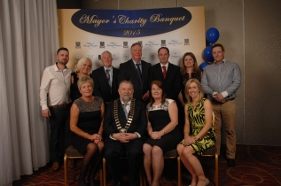 At the Mill Bar and SMB Hurling Club table at the Mayor's Charity Banquet were Back row (l to r) Linda McEnery, Johnny O'Sullivan, Junior Togher, John Lynch, John Farrelly, Nicola Kenny and Brian Darcy. Front row (l to r) Louise Lynch, John Crowe, Angie Togher and Phyllis Darcy