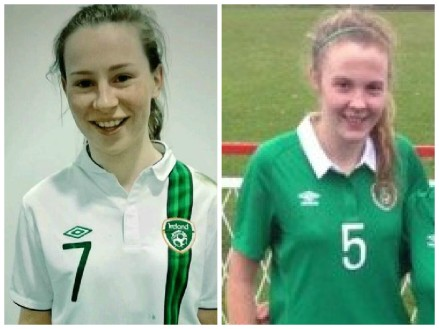 Aislinn Meaney of Lifford (left) and Chloe Maloney of Connolly Celtic (right)