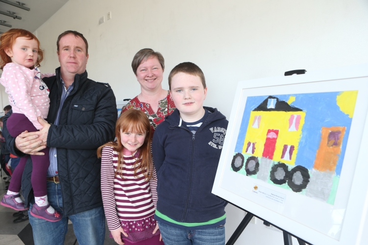 Ronan Cahill with his father Alan, mother Paulette and sisters Ailbhe and Siofra