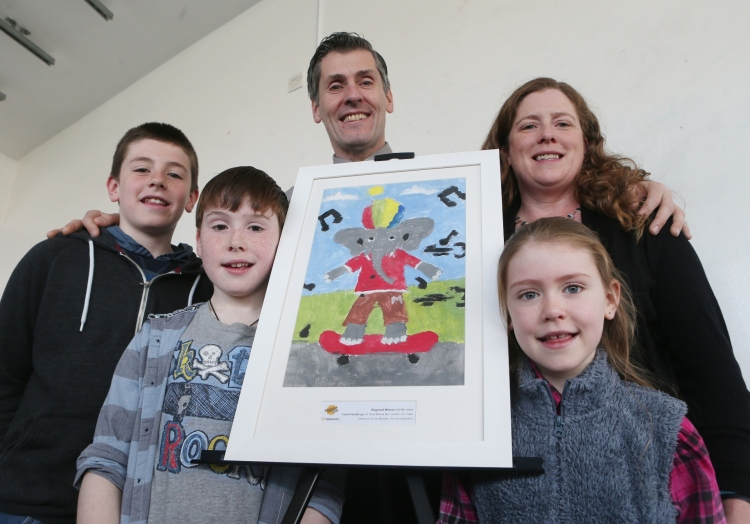 Conor Farrell (2nd from left) with family (l to r) Donnacha, Tony, Eileen O'Connor and Roisin