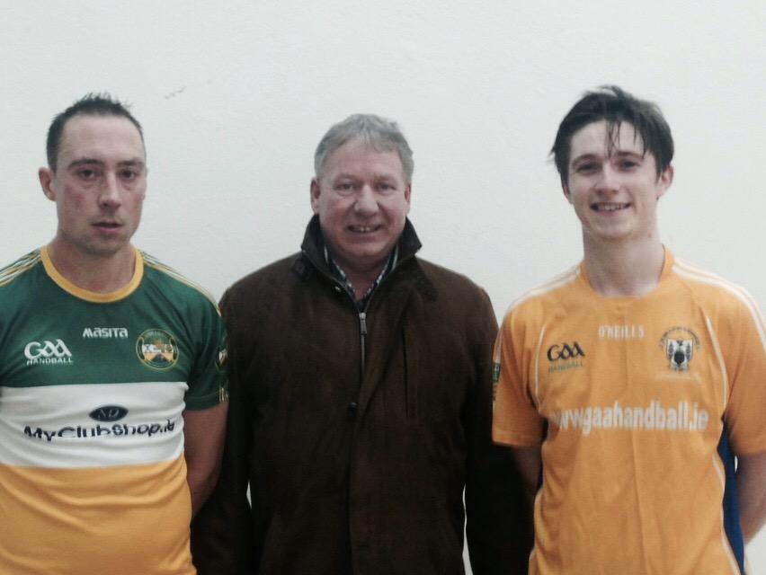 Pictured following the All-Ireland Intermediate 40x20 Final (L-R): David Hope, Joe Masterson, Colin Crehan