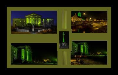 Ennis goes green for St Patricks Day 2015. PICS Frank Chandler