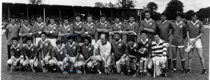 Eugene McMahon lined out for Kilmaley in the 1985 county final.Pic courtesy of Kilmaley GAA