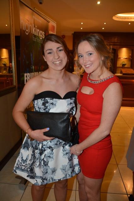 Aleisha Pyne and Alana Barry at the Kilmaley Victory Social.