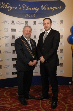 Mark Dunphy of Dunphy PR pictured with Cathaoirleach Cllr. John Crowe. Pic by Terry O'Brien