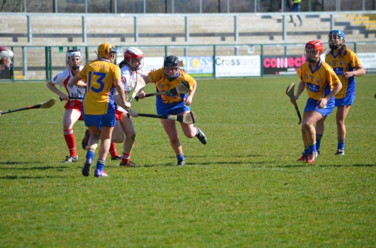Orlaith Duggan in possession for Clare. Picture: Martin Kaiser
