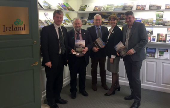 Billy Condon, Tourism Ireland; John Crowe and Tom Coughlan, Clare County Council; Alison Metcalfe, Tourism Ireland; and Neil Pakey, CEO of Shannon Airport.