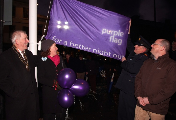 Ennis' first Purple Flag is hoisted in 2013
