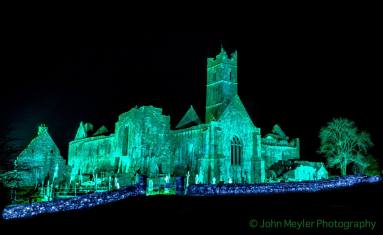 Quin Abbey, Co. Clare, on St. Patrick's Day. Pic John Meyler Photography