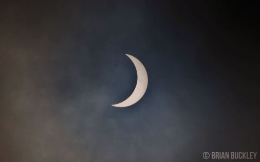 This morning's Solar Eclipse as photographed by Brian Buckley in Ennis