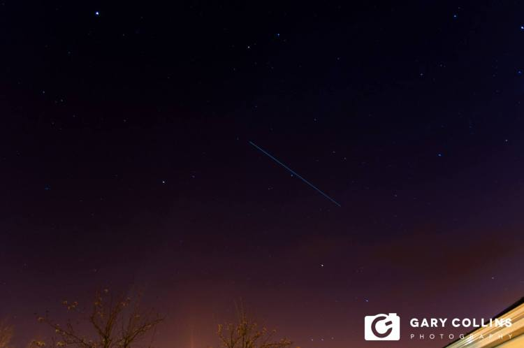 ISS over Roslevan, Ennis. Pic Gary Collins Photography