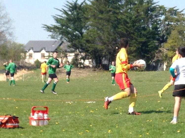 Action from Connolly Celtic's First Division tie with Avenue United on Sunday. Avenue won 2-1. Pic courtesy of Connolly Celtic Facebook page https://www.facebook.com/pages/Connolly-Celtic/210125765679048?fref=ts