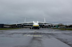 The worlds largest jet has made a fuelling stop at Shannon Airport. The Antonov An-225 Mriya touched down shortly before 3am Sunday morning and remained at Shannon Airport until 22.00. The Antonov 225 ÔMriyaÕ, meaning ÔDreamÕ, was designed and built by the Antonov Design Bureau in the Ukraine and first flew on December 21st 1988. Pic Sean Curtin Photo.