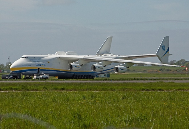 The Antonov 225 Mriya pictured at Shannon Airport in May 2013. Photo: © Pat Flynn 2015