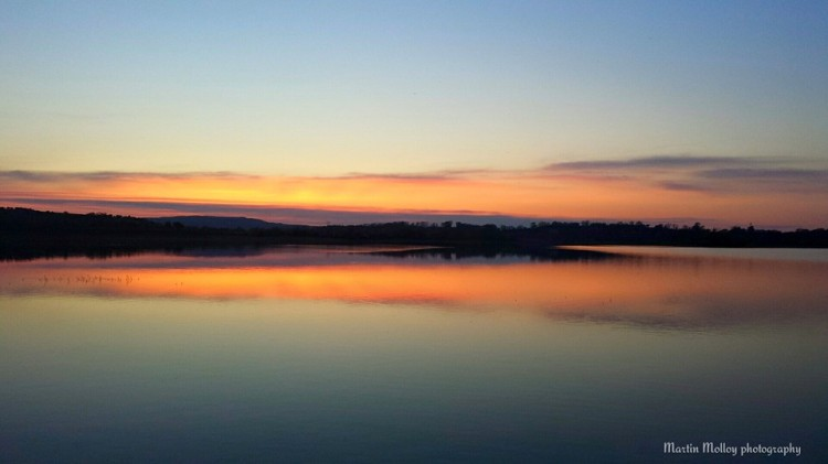 Sunset at Ballyalla Lake Ennis, Co Clare, on Monday evening. Pic Martin Molloy Photography