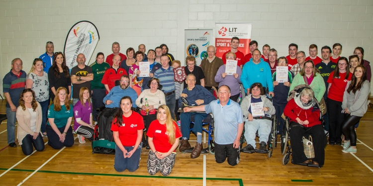 Participants in the annual Limerick Sports Partnership Boccia Tournament in Moylish this week. Pic Dolf Patijn.