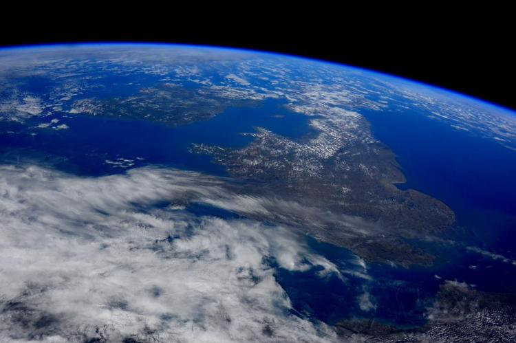 Ireland and Britain today as photographed from space by @AstroSamantha on board the International Space Station