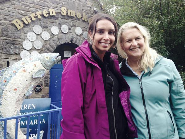 Burren Smokehouse owner Birgitta Hedin-Curtin pictured with Christine Bleakley