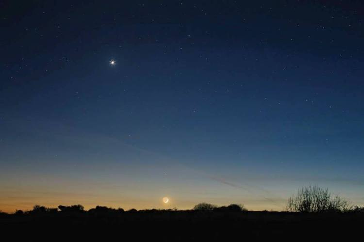 Venus pictured in the sky over Lissycasey, Co. Clare. Pic Damien McCarthy