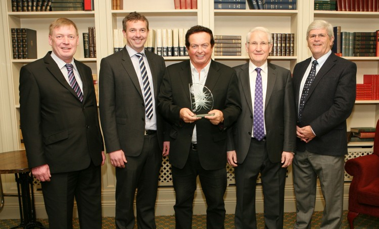 Pictured l/r: Pat Lemasney, Southern (marketing design media - sponsor); John Lehane, Lexus Cork (South Douglas Road - sponsor); Marty Morrissey, Person of the Month; Michael O'Neill, Nominator; Manus OCallaghan, Awards Organiser.Picture, Tony O'Connell Photography