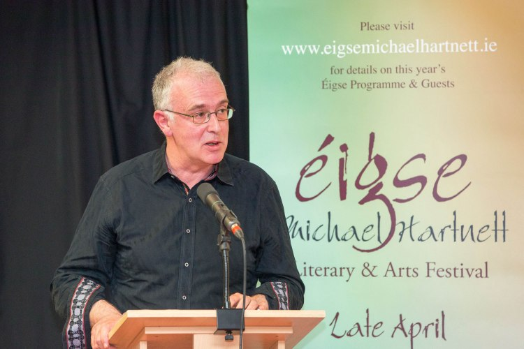 Author and broadcaster Joseph O'Connor officially launched Eigse Michael Hartnett, the annual festival celebrating the life and work of County Limerick poet Michael Hartnett (1940-1999). Pic Sean Curtin Photo.