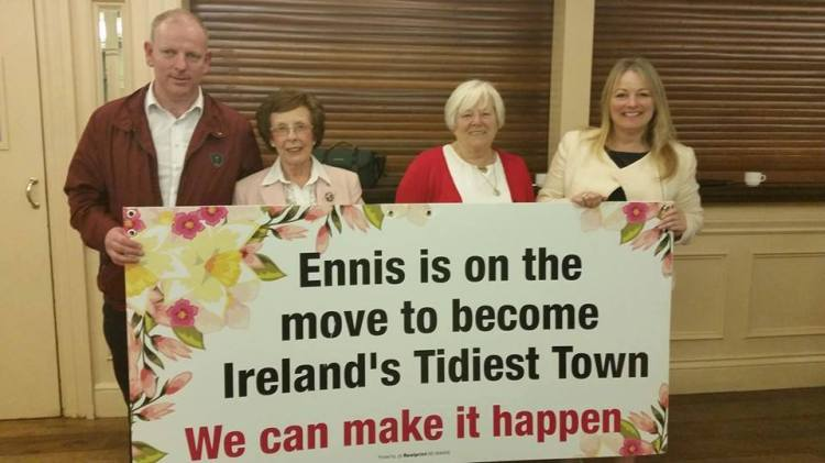 Ennis Tidy Towns Committee members at last night's launch. Pic Fiona O'Sullivan
