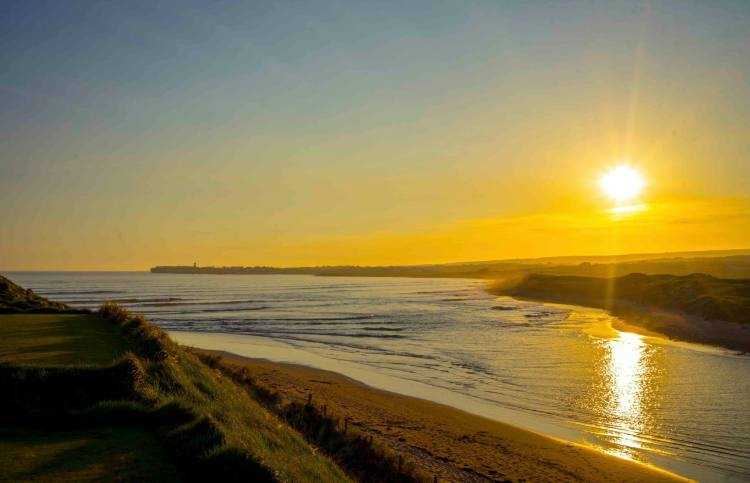 Golden rays of sunshine at Lahinch, Co. Clare. Pic Niall Cosgrove Landscape photography