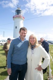 Pictured at Loop Head Lighthouse today are Anne Doyle and Cillian Murphy, Chairman loop Head Tourism.Pic Arthur Ellis.