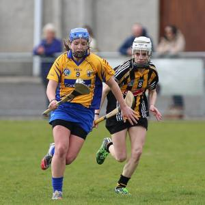 Niamh O'Dea on the attack for Clare. Picture - Aidan Ryan
