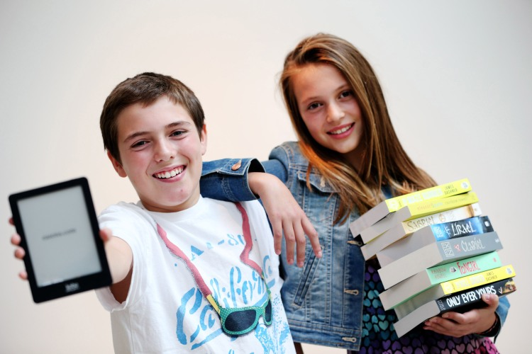 Pictured l-r, at the launch of Eason Creates are Secondary school students Harry Stone (aged 12) and Katie Marie (aged 12).