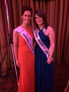 Siofra Mulqueen pictured with 2014 Rose of Clare, Joanne O'Gorman.