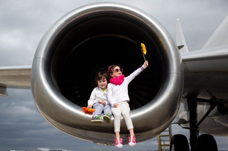 Shane Hogan, Killaloe and Aoife Chawke, Shannon Banks marking the launch of Shannon Airport's summer season with 35 destinations and 11 countries served. Pic Sean Curtin Photo.