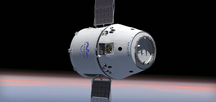 SpaceX Dragon spacecraft visible tonight