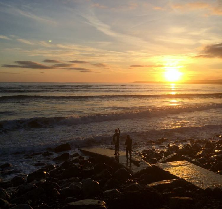Surfers at Lahinch. Pic Ciara Callinan