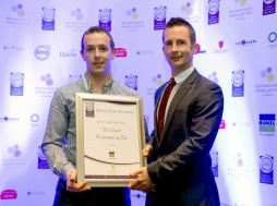 The Cloister, Ennis accept the award for Best Gastro Pub. Picture: Keith Wiseman