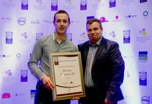 The Cloister, Ennis receives an award for Best Wine Experience. Picture: Keith Wiseman
